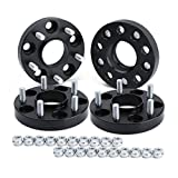 dynofit 5x4.5 Wheel Spacers for 300ZX 350Z 370Z Altima Leopard G35 G37 FX35 S14 and More, 4Pcs 25mm 5x114.3 Hubcentric Forged Wheels Spacer 66.1mm Hub Bore M12x1.25 for 5 Lug Rims