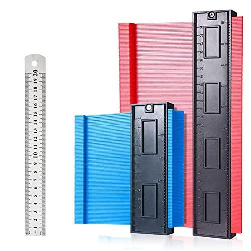 Konturenlehre, 2er Set Konturmesser, groß Konturmessgerät als Vervielfältigungslehre mit extra Tiefe - Profillehre Werkzeug saker kontur Duplikator perfekt für Fliesen,...