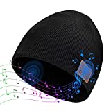 ColoFocus Bluetooth Beanie Music Hat, Unisex Gift Ideas Beanie with Bluetooth 5.0 Headphone for Men Women