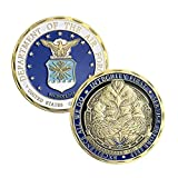 AIR FORCE challenge coin,1.57 inches diameter, 0.12 inches thick. Coin made with quality materials for long lasting design,coin collection. AIR FORCE EMBLEM Authentic Look & Feel. Use: veterans,military lover,coin collector,a weighty gift.It also can...