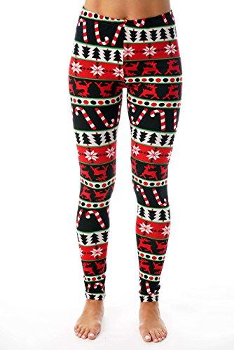 Just Love Ugly Christmas Holiday Leggings 401583-10333-XL