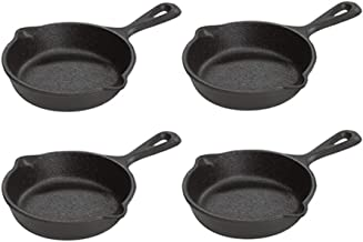 Lodge Pre-Seasoned 3.5-Inch Cast Iron Skillet Set for Side Dishes or Desserts (Set of 4)