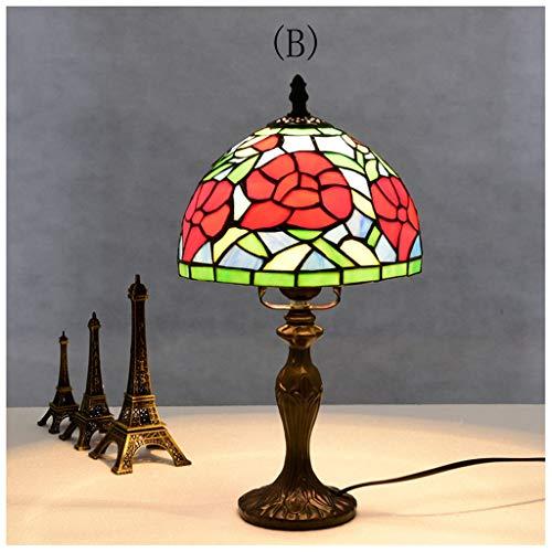 CJW Lampe de table rétro américaine classique baroque 20cm (Color : B)