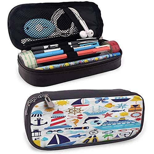 Nautical Zipper Pens Pouch Bag, Tauchausrüstung Tauchen für Stift, Bleistift, USB-Kabel, Kopfhörer, Füllfederhalter