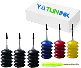 YATUNINK Compatible for Canon PG-245XL Cl-246XL Refill Ink Kit Work with PIXMA MG2520 MG2920 MG2922 MG2924 MG2420 MG2522 MG2525 MG3020 MG2555 MX490 MX492 Printer (3x30 BK+1x30 C+1x30ML M +1x30ML Y)