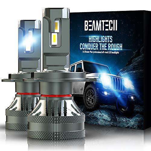 BEAMTECH H4 LED Headlight Bulb, 9003 G-XP Chips 110W 14000LM 6500K High Power Xenon WhiteConversion Kits of 2