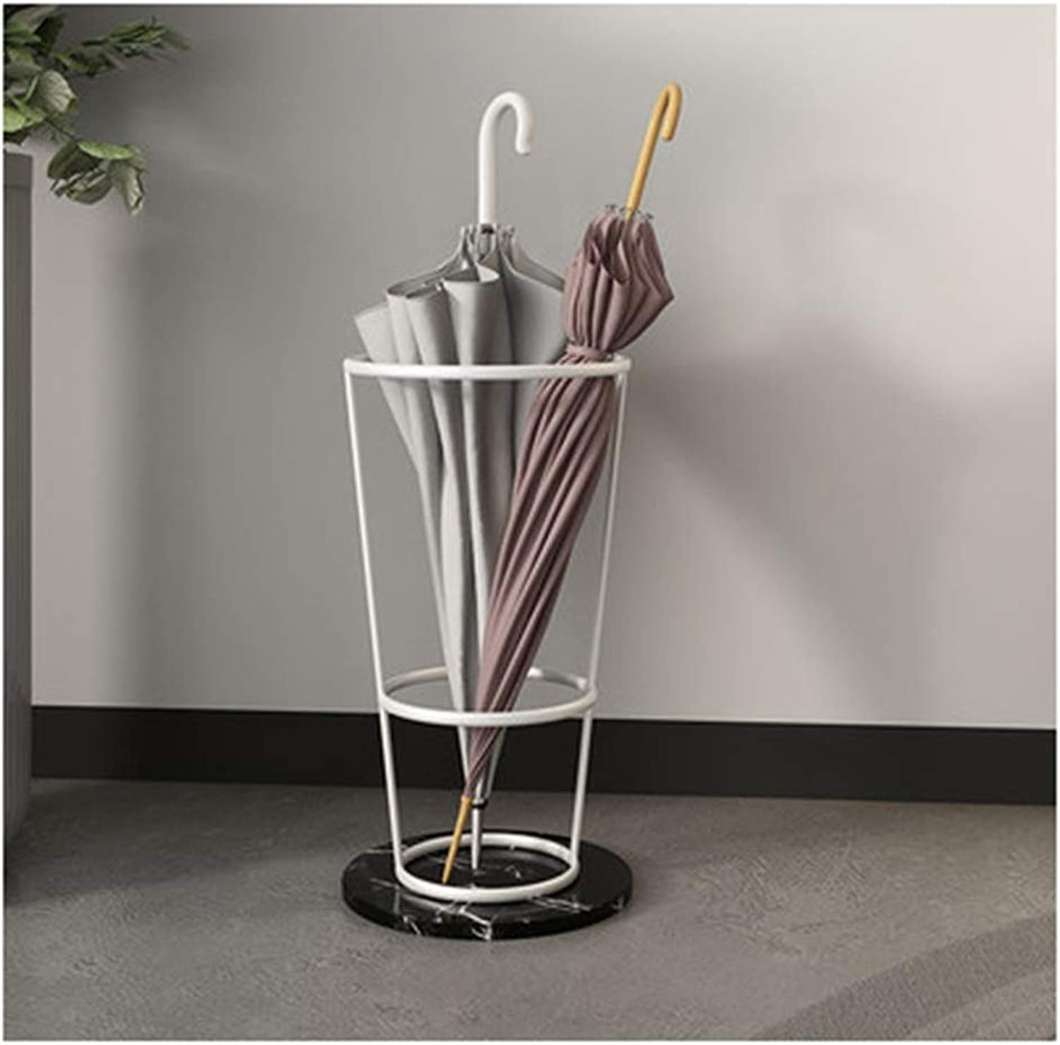 Achang Luxury Fashion Multicolor Marble Iron Storage Rack Home Hotel Multi-Function Umbrella Stand (color   B)