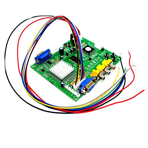 Paddsun Video Converter Arcade Game RGB CGA EGA YUV to VGA HD Video Converter Board 1 VGA Single Output Jamma Game Monitor to CRT LCD PDP GBS-8200 Projector US New
