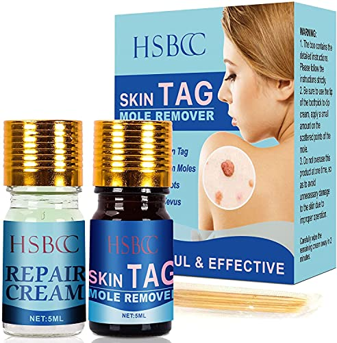 HSBCC Updated Skin Tag Remover & Mole Remover Set,Skin tag removal & Natural Repair Gel, Safe & Effective, Easy to use at home.