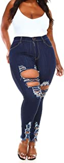 Vibrant Women's Juniors High Rise Jeans w Heavy Distressing