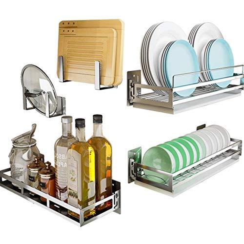 LZQBD Cocina de Acero Inoxidable Estante Inicio de Múltiples Funciones Del Plato de Almacenamiento en Rack Rack de Almacenamiento de Cocina gfdffdscvsv/C