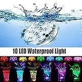 Saihisday Luces LED sumergibles con Control Remoto, Impermeables, Luces de té bajo el Agua, para Piscina, Fiesta, Acuario, Fuente de Peces, decoración de Ambiente