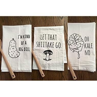 Funny Dishcloths/ Tea Towels ~ Discount Mix and Match 3 ~ Funny Kitchen Cloths.