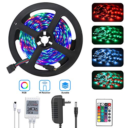 DAYBETTER Led Strip Lights 16.4ft 5m 300LEDs Non-Waterproof Flexible Color Changing RGB SMD