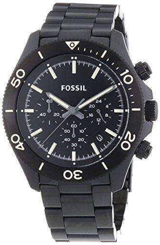 Fossil Herren-Armbanduhr XL Retro Traveler Chronograph Quarz Edelstahl CH2915