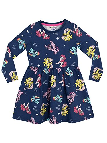 Mein Kleines Pony Mädchen My Little Pony Kleid, Blau, 116 (Herstellergröße: 5 - 6 Jahre)