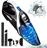 Handheld Vacuum, LOZAYI Powerful Cyclonic Suction 9KPA Portable Vacuum Cleaner, Cordless Hand Vacuum with Stainless Steel HEPA Filter, Li-ion Battery Rechargeable Quick Charge for Home/Car Cleaning