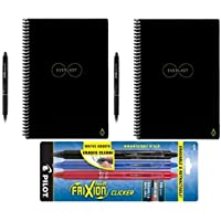 2-Pack Rocketbook Smart Notebooks with 5 Pilot Frixion Pens