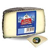 Queso García Baquero Semicurado Mezcla - Medio Queso Semicurado 1,6 kg - Incluye Cuña Degustación Queso de Oveja Curado de REGALO - Elaborado con leche pasteurizada