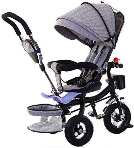 Poppenwagen kinderen triksen Tricycle Folding Baby-Tricycle W/instelbare luifel 3 in 1 Trike instelbare hoogte push-rijden tricycle geschikt voor kinderen van 1-3-5 als babyartikel