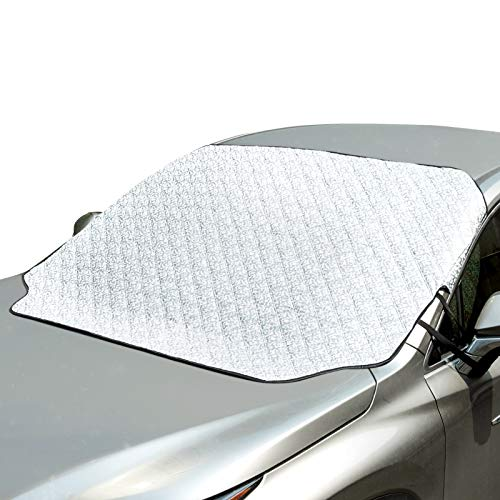 ELUTO Car Windshield Snow Cover Magnetic Car Sunshades for Windshield Sun Shade Protector Ice Protection Frost Guard Windshield Cover Cotton Thicker Summer Winter Cover
