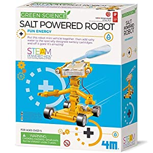 4M Green Science Salt Water Powered Robot Kit - Green Energy Robotics STEM Toys Educational Gift for Kids & Teens, Girls & Boys - 51i2k9424 L - 4M Green Science Salt Water Powered Robot Kit – Green Energy Robotics STEM Toys Educational Gift for Kids & Teens, Girls…