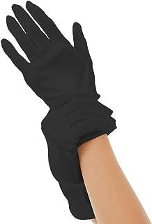 Silk 100% ハンドケア シルク 手袋 手首ゆるゆる おやすみ スキンケア グローブ 薄手のスムース素材 外出時の UV対策 や インナーグローブ にも最適 うるおい 保湿 ひび あかぎれ 保護 (L, ブラック)