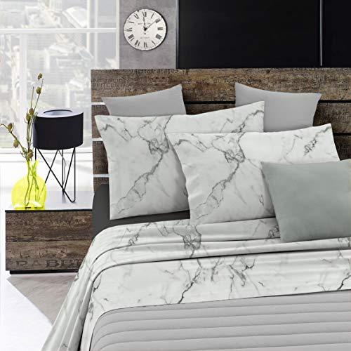 Italian Bed Linen Fashion Completo Letto, Marble, Una Piazza e Mezza