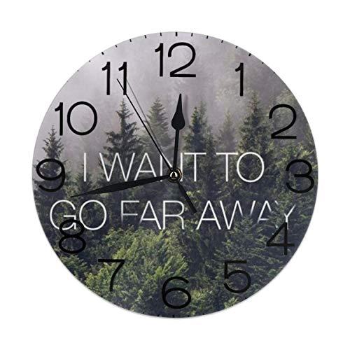 Melinda Perrodin I Want To Go Far Away Reloj de Pared Redondo Reloj Elegante Pintura al óleo Reloj Digital MUTO