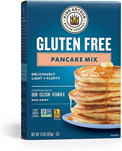 King Arthur, Gluten Free Pancake Mix, Certified Gluten-Free, Non-GMO Project Verified, Certified Kosher, 15 Ounces (Pack of 6)