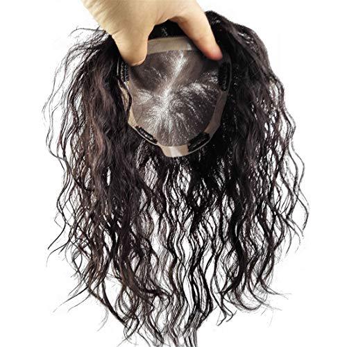 Véritable couronne de cheveux humains pour femme avec cheveux effilés, 12,7 x 14 cm Mono instantané