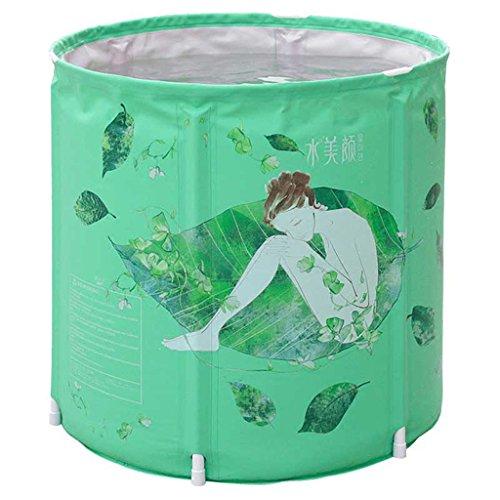 Klapp Badewanne Koreanische erwachsene Wanne / Haushaltsbadewanne / faltende Badewanne / Kinderplastikwanne grün Faltbare Badewanne