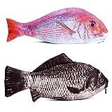 TOBWOLF Estuche para lápices 3D con diseño de peces en forma de pez, creativo, con cremallera, para mujeres y niñas,...