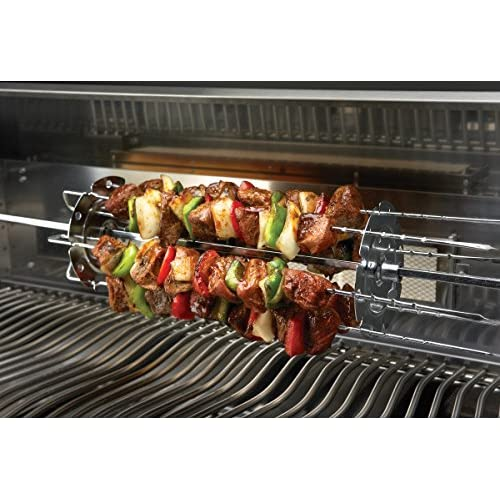 """Best of Barbecue Stainless Steel Kabob Rack Set with Six 17/"""" Skewers SR8816"""