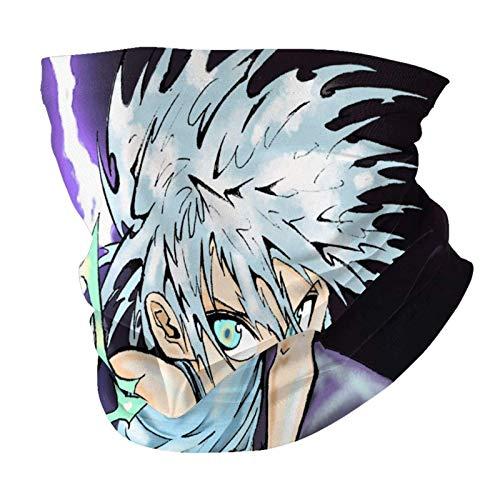 AmyNovelty Neck Sweatband,Abrigo De Bufanda De Cuello Anime Hun-TER X Hun-TER, Coloridos Sombreros Multifuncionales para Gimnasios Deportivos,25x50cm