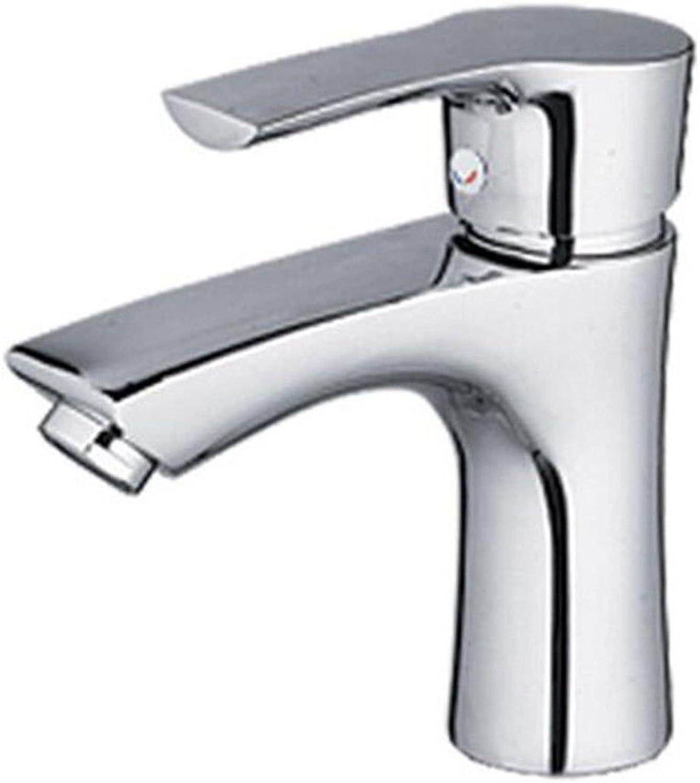 LHbox Bad Armatur in Bad für Waschbecken Waschtisch Wasserhahn Waschtischarmatur Metall Hahn Waschbecken Wasserhahn und Kalten Wasserhahn Einzelne Bohrung