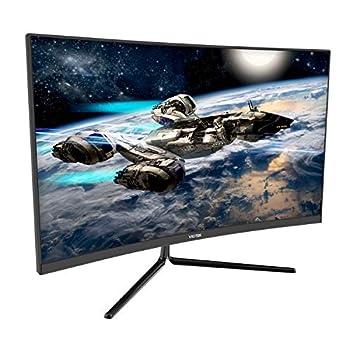 VIOTEK GNV27DB 27-Inch Curved QHD Gaming Monitor | 165Hz 2560x1440p 1ms  OD  | 1500R Curvature G-Sync-Ready FreeSync | DP 3X HDMI 3.5mm | 3-Year Warranty + Zero-Tolerance Dead Pixel Policy  VESA