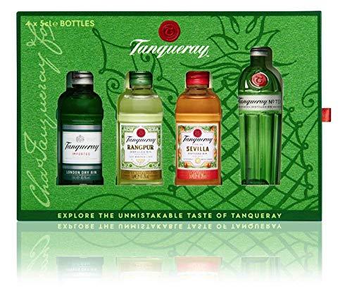 Tanqueray Exploration Pack mit Tanqueray London Dry Gin, Tanqueray No. Ten, Tanqueray Flor de Sevilla und Tanqueray Rangpur Gin (1 x 0.20 l)