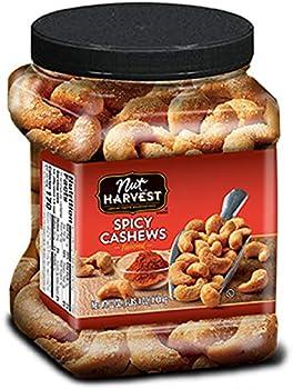 Nut Harvest Spicy Cashews 24 Oz Jar