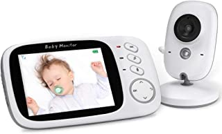 YOHOOLYO Baby Monitor Wireless 3.2 Inch Video Camera with Night Vision Two-Way Talk Support Voice Activation,Temperature M...