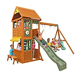 Wood Swing Set / Playset  - KidKraft Brooksville Cedar