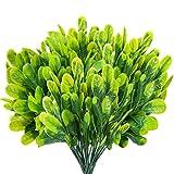 HUAESIN 6pcs Planta Artificial Decorativa Exterior, Rama de Arbustos Artificiales Resistentes a Rayos UV Plantas Verdes Artificiales Decoración para Jardín Jardinera Balcon Terraza Patio Hogar Casa