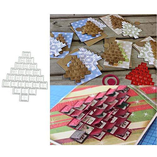 Kuizhiren1 Stanzschablonen, Stanzformen, Zahlen, Figuren, Baum, DIY, Sammelalbum, Papier, Karten, Foto, Bastelschablone, Silber