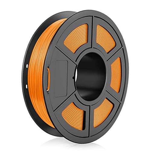 TPU 3D Printer Filament 1.75mm, Dimensional Accuracy +/- 0.03 mm, 0.5 Kg Spool, Flexible Orange
