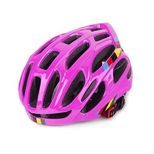 SFBBBO Casco Bici Casco da Bicicletta Ultraleggero 54-58cm Casco da Ciclismo Traspirante Regolabile Taglia Donna Uomo Unisex Road MTB Casco da Bici Rosepink