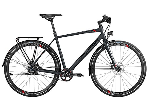 Bergamont Sweep MGN EQ Fitness Bike Fahrrad schwarz/rot 2016: Größe: 48cm (164-170cm)