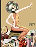 Vintage Pinup Girl with Flowers Jewelry and Gifts: 2019 Schedule Planner and Organizer / Weekly Cale...