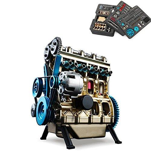 AVANI EXCHANGE Teching V4 DM13 Motor Stirling de Cuatro Cilindros Colección Completa de Modelos de aleación de Aluminio