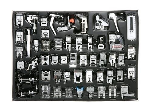 icase4u® Kit de 11/15 Piezas Multifuncional Prensatelas Accesorios para Máquina de Coser Presser Foot Feet Kit Machines Set (Kit de 52 Piezas)