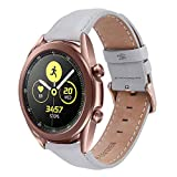 TOROTOP Galaxy Watch 3 41mm/Galaxy Watch 42mm Bands / Galaxy Watch Active 1&2 40mm 44mm Band Women,20MM Leather Strap Replacement Sport Band/Strap for Galaxy Watch 42mm/Gear Sport /Gear S2 Classic